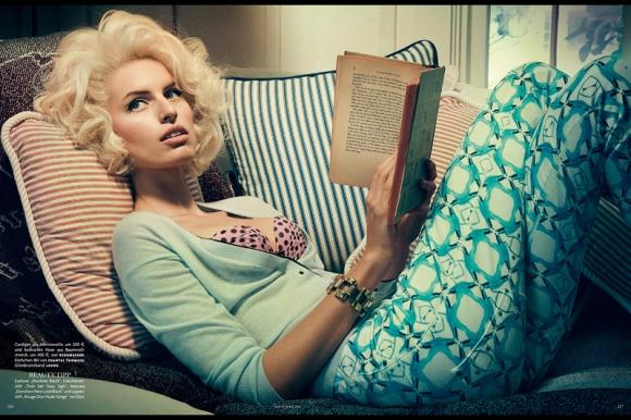 Karolina Kurkova por Giampaolo Sgura para Vogue Alemanha de abril