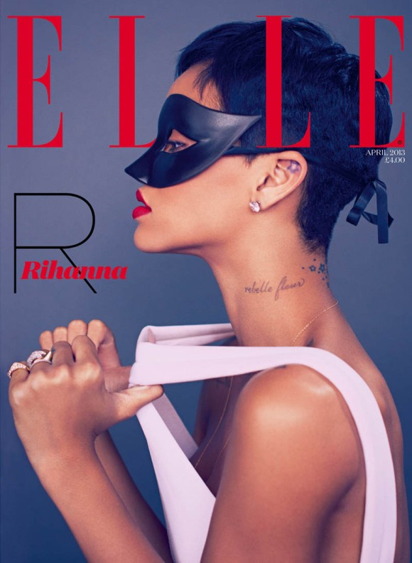 Rihanna para a Elle UK de abril