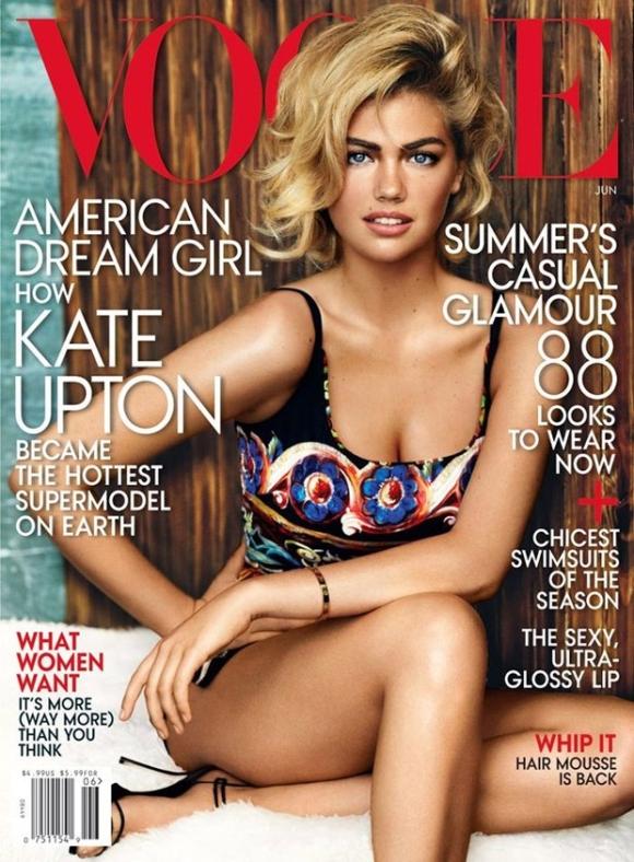 Kate Upton para a Vogue US de junho 2013