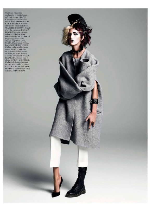 Anja Rubik por  Inez van Lamsweerde e Vinoodh Matadin para a Vogue Paris