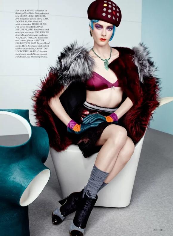 Zen Sevastyanova por  Catherine Servel para Elle US outubro 2012