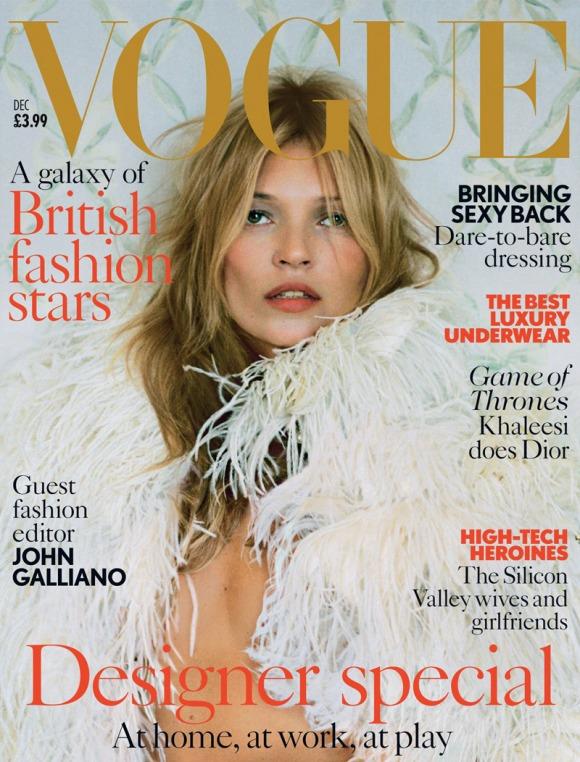 Kate Moss para a Vogue UK dezembro 2013