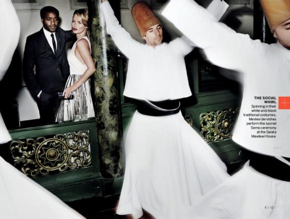 Kate Moss e Chiwetel Ejiofor por Mario Testino para a Vogue US dezembro 2013